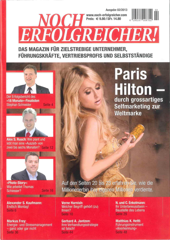 """Beitrag über Thomas Schiesser """"Wie arbeitet..:"""" in der Zeitschrift Noch Erfolgreicher"""