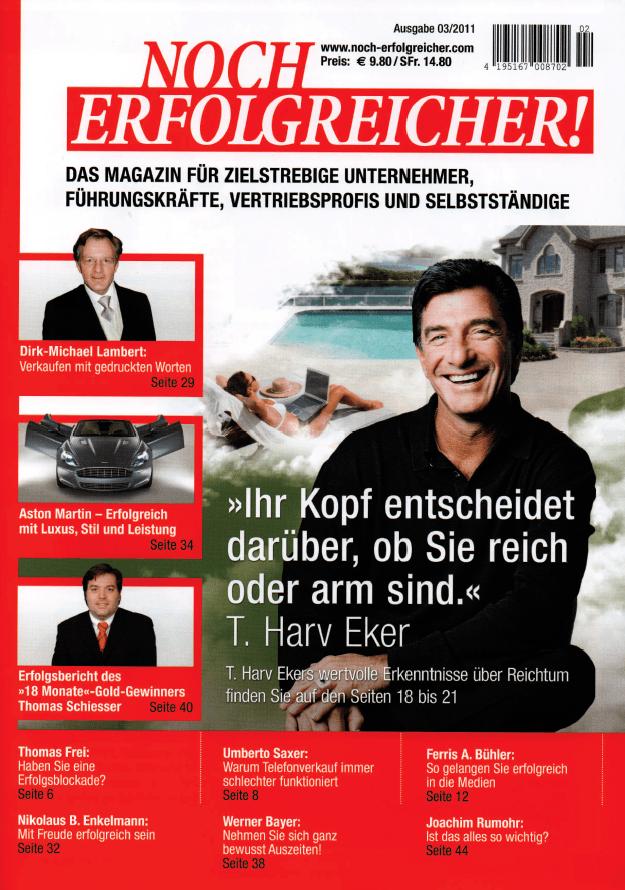 """Erfolgsbericht als Gewinner des """"18 Monate Essaye Contest"""" in der Zeitschrift Noch Erfolgreicher im November 2011"""