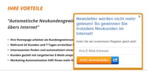 Kunden gewinnen über die Homepage 2