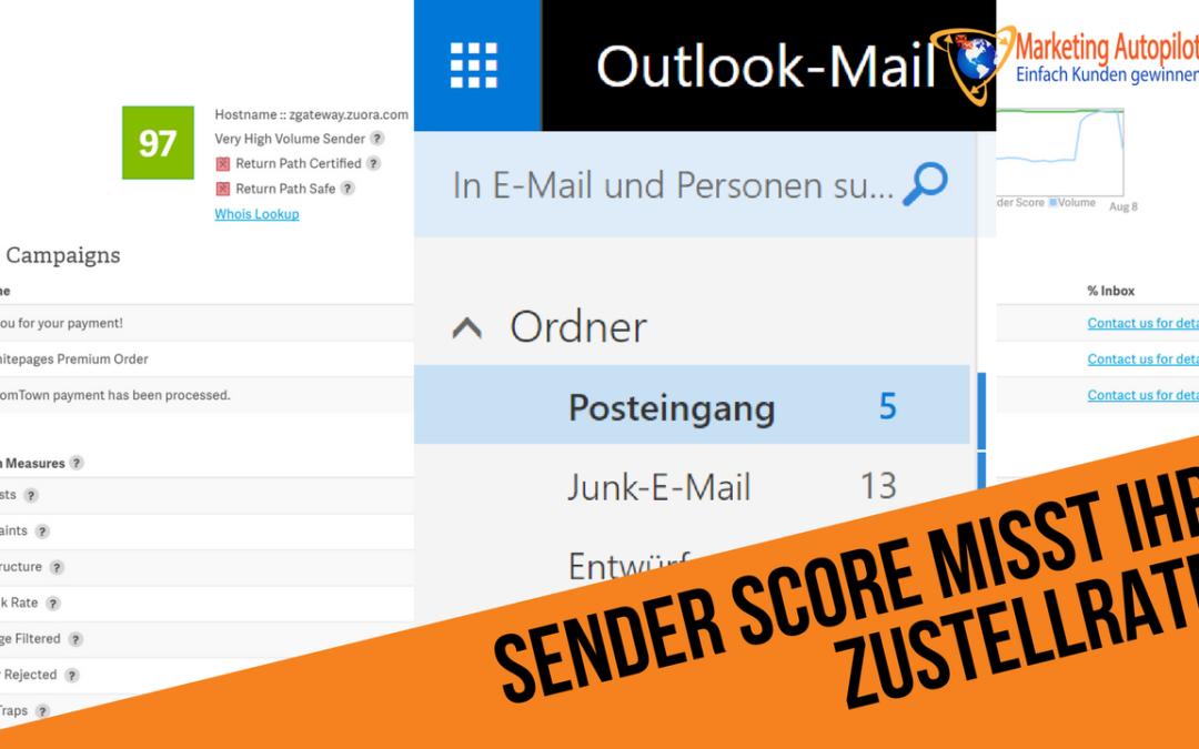 Wie steht es um die Reputation (Sender Score) Ihres Mail-Servers?