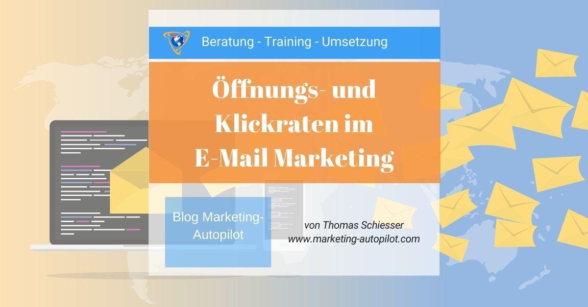 Öffnungsraten sind entscheidend im E-Mail Marketing
