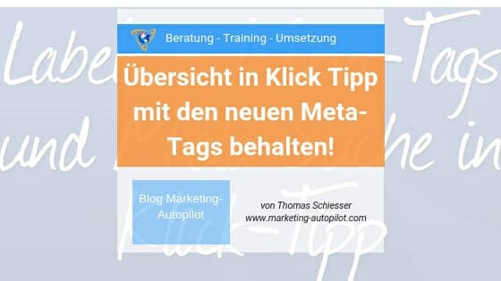 Meta-Tags und Meta Suche in Klick Tipp