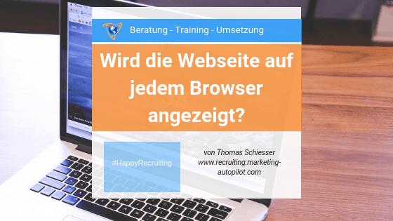 Webseite sichtbar auf Chrome Firefox Internet Explorer