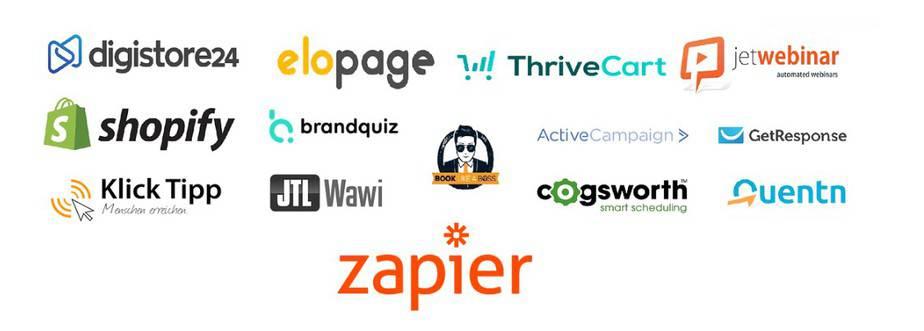 Integrationen Logos mit welchen WOWING verbunden werden kann