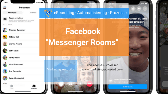 Einblick in den neuen Facebook Messenger Room