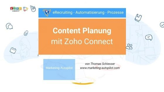 Content Planung mit Zoho Connect