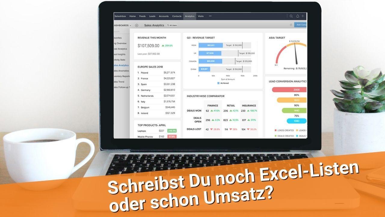 Schreibst Du noch Excel-Listen oder schon Umsatz?