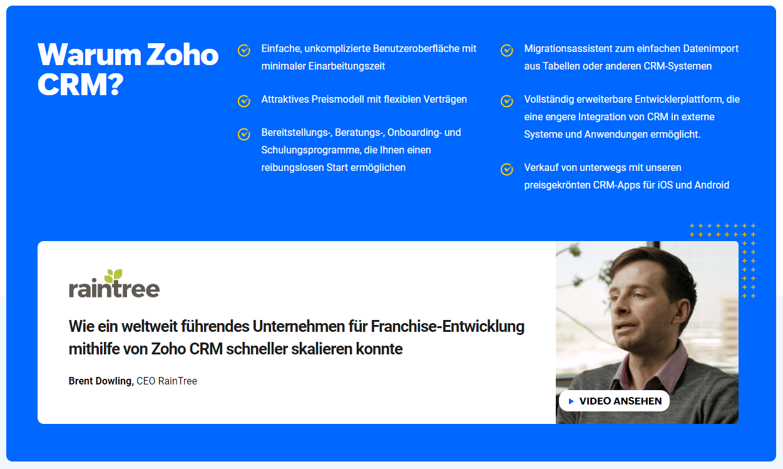 Warum Zoho CRM